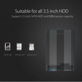 Orico Hard Drive Enclosure 3.5 inch USB 3.0 - 3139U3 - Transparent - 9