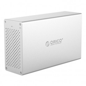 Orico Honeycomb Docking HDD 3.5 Inch 2 Bay USB 3.0 - WS200U3 - Silver