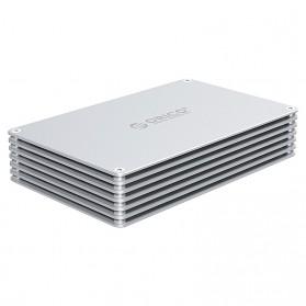 Orico HDD Enclosure 2.5 inch 2 Bay USB 3.0 - DY252U3 - Silver - 2