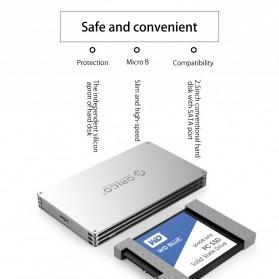 Orico HDD Enclosure 2.5 inch 2 Bay USB 3.0 - DY252U3 - Silver - 8