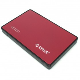 Orico 1-Bay 2.5 HDD Enclosure Sata 2 USB 3.0 with HDD 500GB - Red