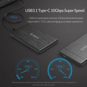 ORICO 2.5 inch USB Type C 3.1 HDD Enclosure - 2578C3-G2 - Black - 2