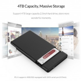 ORICO 2.5 inch USB Type C 3.1 HDD Enclosure - 2578C3-G2 - Black - 3