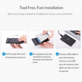 ORICO 2.5 inch USB Type C 3.1 HDD Enclosure - 2578C3-G2 - Black - 5