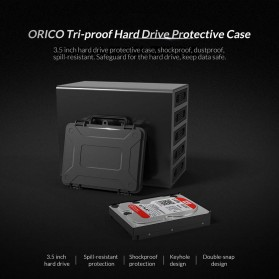 Orico 1-Bay 3.5 Inch HDD Protection Case - PHF-35 - Black - 6