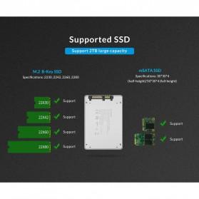 Orico HDD Enclosure M.2 NGFF MSATA USB 3.0 - MS2TS - Silver - 9