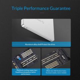 Orico HDD Enclosure M.2 NGFF MSATA USB 3.0 - MS2TS - Silver - 10
