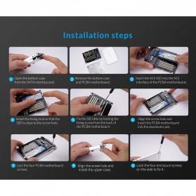 Orico HDD Enclosure M.2 NGFF MSATA USB 3.0 - MS2TS - Silver - 11