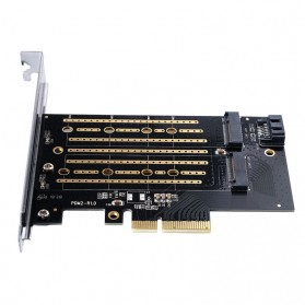 Orico 2 Slot M.2 NVME to PCI-E 3.0 X4 Expansion Card - PDM2 - Black