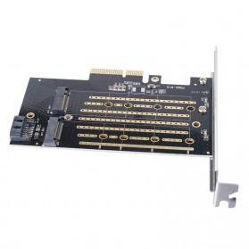 Orico 2 Slot M.2 NVME to PCI-E 3.0 X4 Expansion Card - PDM2 - Black - 2