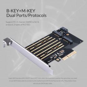 Orico 2 Slot M.2 NVME to PCI-E 3.0 X4 Expansion Card - PDM2 - Black - 4