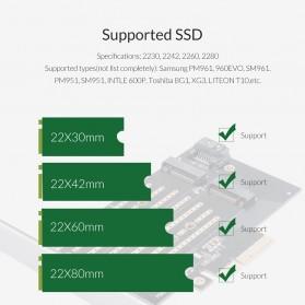 Orico 2 Slot M.2 NVME to PCI-E 3.0 X4 Expansion Card - PDM2 - Black - 8