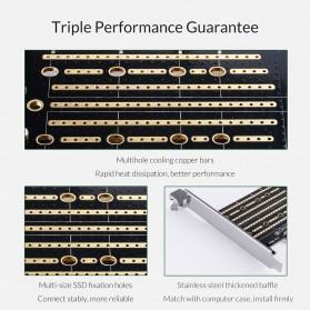 Orico 2 Slot M.2 NVME to PCI-E 3.0 X4 Expansion Card - PDM2 - Black - 10