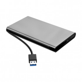 ORICO HDD SSD Enclosure 2.5 inch USB3.0 with Built-in Cable - 2667U3 - Silver - 2