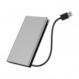 ORICO HDD SSD Enclosure 2.5 inch USB3.0 with Built-in Cable - 2667U3 - Silver - 3