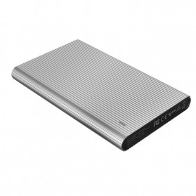 ORICO HDD SSD Enclosure 2.5 inch USB3.0 with Built-in Cable - 2667U3 - Silver - 5