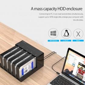 Orico 5-Bay External HDD Docking Enclosure with Duplicator SATA USB 3.0 - 6558US3-C - Black - 3