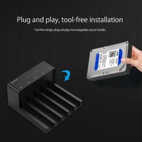 Orico 5-Bay External HDD Docking Enclosure with Duplicator SATA USB 3.0 - 6558US3-C - Black - 5