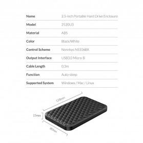 Orico 2.5 Inch External HDD Enclosure USB 3.0 - 2520U3 - Black - 11