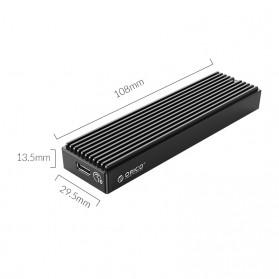 Orico Adaptor Enclosure NVMe M.2 SSD to USB 3.1 Type C - M2PV-C3 - Black - 9
