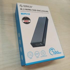 Orico Adaptor Enclosure NVMe M.2 SSD to USB 3.1 Type C - M2PV-C3 - Black - 11