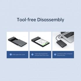 Orico SSD HDD Enclosure 2.5 inch USB Type C 3.1 - 2526C3 - Black - 10