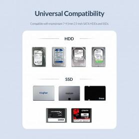 Orico SSD HDD Enclosure 2.5 inch USB Type C 3.1 - 2526C3 - Black - 8