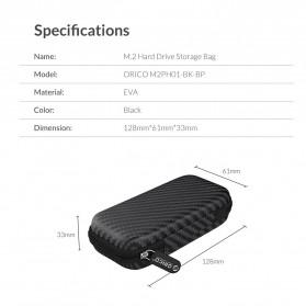 Orico EVA Shockproof Case Eksternal SSD NVME M.2 Hard Drive - M2PH01 - Black - 10