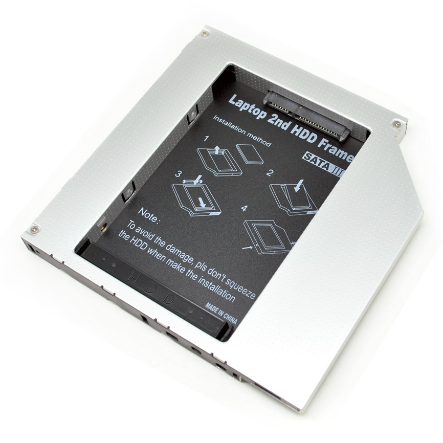 how to install hard drive caddy laptop
