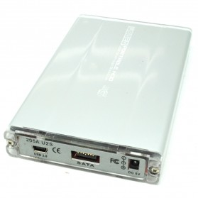 Hard Disk Case External 2.5 Inch USB 2.0 SATA Port - 205A U2S - Silver