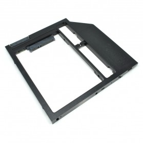 Universal 2nd Hard Disk Drive Caddy For Laptop 8.9mm SATA3 to SATA3 (Plastic)