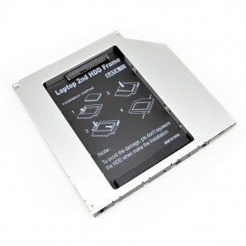 CHIPAL 2nd Hard Disk Drive Caddy Laptop 9.5mm SATA to SATA - MKT122-DB - 2