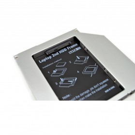 CHIPAL 2nd Hard Disk Drive Caddy Laptop 9.5mm SATA to SATA - MKT122-DB - 3