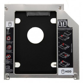 Universal 2nd Hard Disk Drive Caddy SATA 9.5mm for Apple
