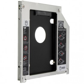 Universal 2nd Hard Disk Drive Caddy SATA 9.5mm for Apple - 5