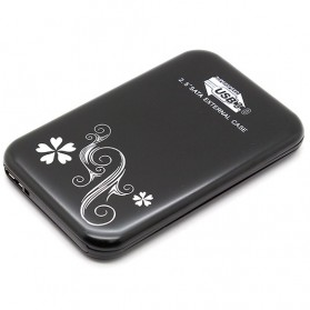 HDD Enclosure SATA Flower Design USB 3.0 2.5 Inch - Black