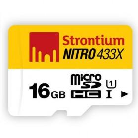 Strontium Nitro 433X MicroSDHC UHS1 65MB/s Class 10 16GB - SRN16GTFU1R