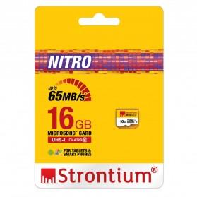 Strontium Nitro 433X MicroSDHC UHS1 65MB/s Class 10 16GB - SRN16GTFU1R - 2