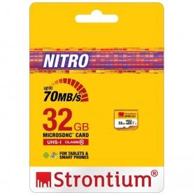 Strontium Nitro 466X MicroSDHC UHS1 70MB/s Class 10 32GB - SRN32GTFU1R - 2