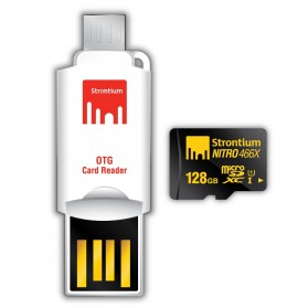 Strontium Nitro 466X MicroSDXC UHS-1 70MB/s Class 10 128GB with OTG Card Reader - SRN128GTFU1T