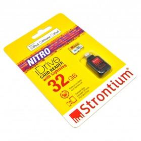 Strontium Nitro iDrive Card Reader Lightning with Nitro 466X 32GB - SRN32GTFU1D
