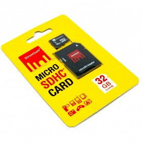 Strontium Basic MicroSDHC Class 6 32GB with SD Adapter - SR32GTFC6A - Black