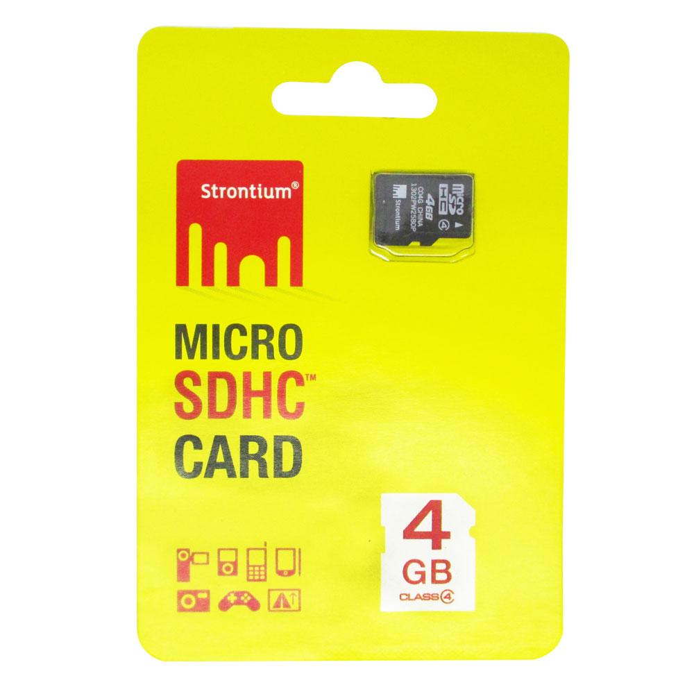 Strontium Microsdhc Card Class 4 4gb V Gen Sdhc 2