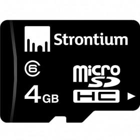 Strontium Basic MicroSDHC Class 6 4GB - SR4GTFC6 - Black