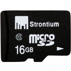 Storage Komputer PC / Laptop - Strontium Basic MicroSDHC Class 10 16GB - SR16GTFC10R - Black
