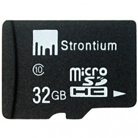 Storage Komputer PC / Laptop - Strontium Basic MicroSDHC Class 10 32GB - SR32GTFC10R - Black
