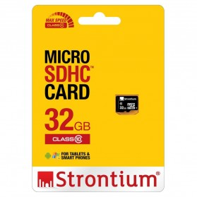 Strontium Basic MicroSDHC Class 10 32GB - SR32GTFC10R - Black - 3