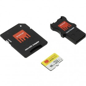 Strontium Nitro 433X MicroSDHC UHS-1 65MB/s Class 10 16GB with Adapter and Card Reader - SRN16GTFU1C - 3
