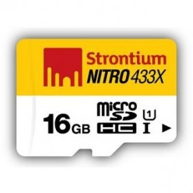 Strontium Nitro 433X MicroSDHC UHS-1 65MB/s Class 10 16GB with OTG Card Reader - SRN16GTFU1T - 2