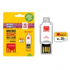 Strontium Nitro 433X MicroSDHC UHS-1 65MB/s Class 10 16GB with OTG Card Reader - SRN16GTFU1T - 4